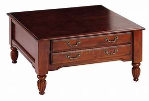 distressed cherry finish classic coffee table w storage With cherry coffee table with storage