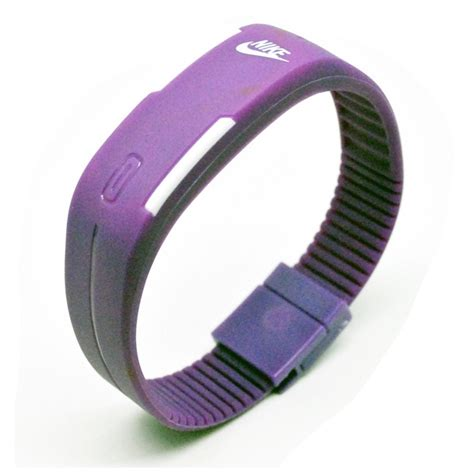 gelang jam digital led jam tangan led gelang sport nikey purple