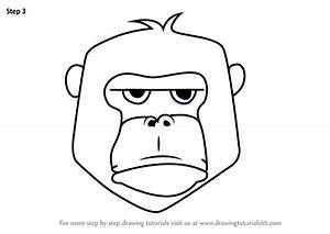 Learn How To Draw A Gorilla Face For Kids Animal Faces