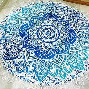 Tapis Rond Mandala : mandala rond serviette de plage avec franges de plage roundie tapis de yoga table chiffon mur ~ Teatrodelosmanantiales.com Idées de Décoration