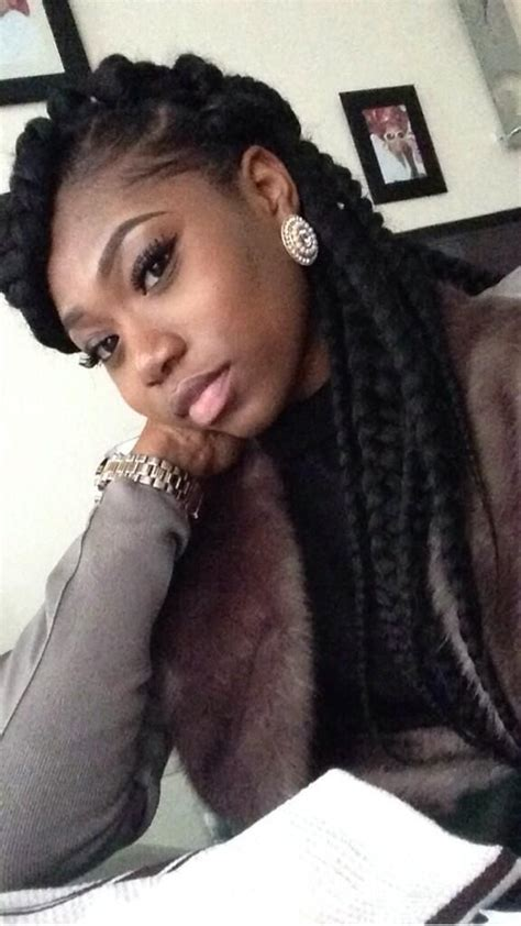 chunky braids box braids senegalese twists pinterest