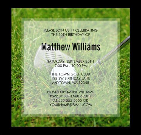 fabulous golf invitation templates designs