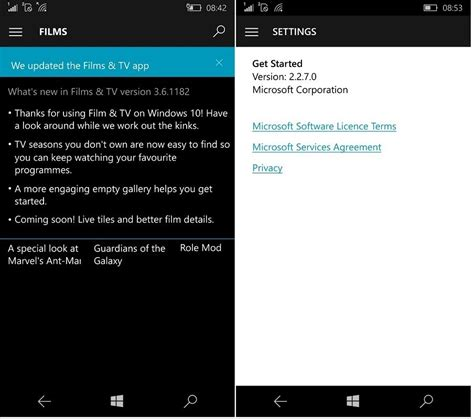 tv outlook mail get started windows 10 mobile apps updated changelog