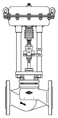 445 Straightway Control Valve with Pneumatic Actuator DP