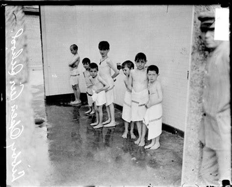 Boys In The Shower - ecc boys from libby school showering in the sherman