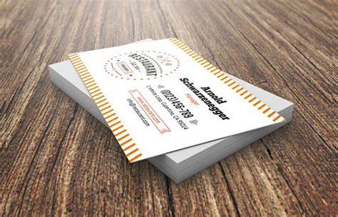 25+ Restaurant Business Card Templates Create Gift Card Your Business Names Staples Leather Holder Tan Aspinal Visiting Logo Icon Clear Plastic Wall Mount Kate Spade Down To