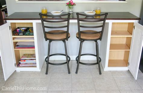 Kitchen Breakfast Bar Storage by Diy Breakfast Bar An Easy Weekend Project You Can Do