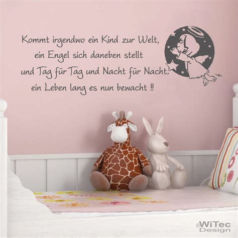 Wandtattoo Kinderzimmer Engel by Wandtattoo Kinderzimmer Engel Spruch Kinderreim Wandaufkleber