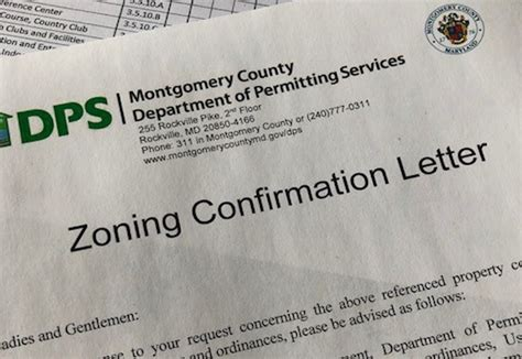 dps zoning confirmation letter process department