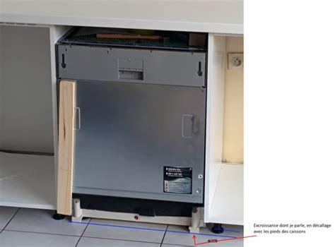 plinthe meuble cuisine ikea lave vaisselle totalement intégrable dans cuisine ikea