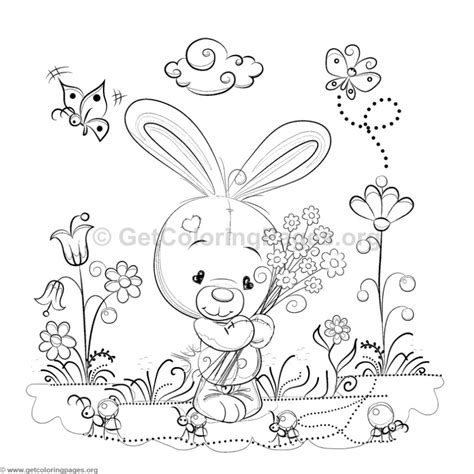 bunny   garden coloring pages getcoloringpagesorg