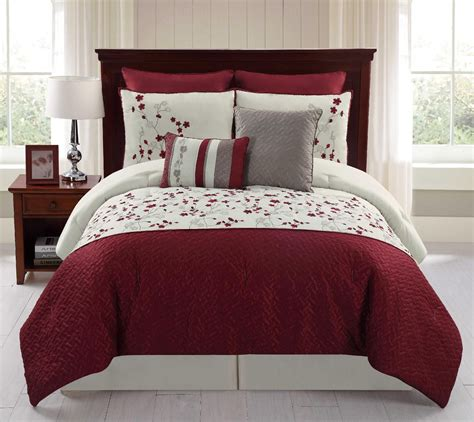 piece embroidered comforter set sadie