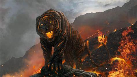tigre de lava wallpaper wallpapers gratis imagenes