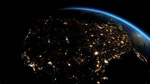 Sunrise over USA. The United States from space. Clip ...