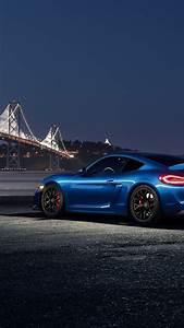 Wallpaper Porsche Cayman GT4 blue car at night 2560x1600
