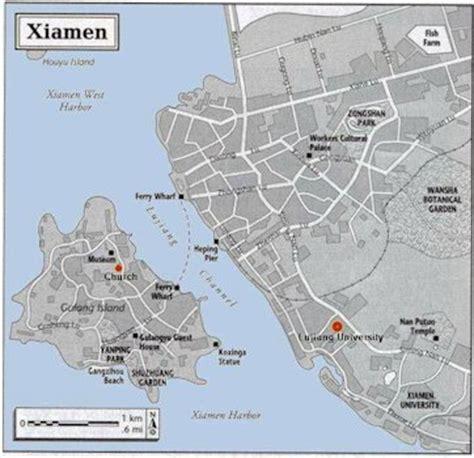 map  xiamen fujian china