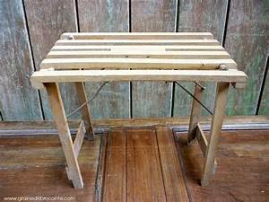 Petite Table En Bois : petite table pliante ancienne en bois ~ Teatrodelosmanantiales.com Idées de Décoration