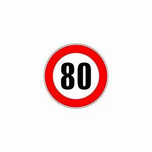 Panneau type routier nterdiction de dépasser 80 kmh