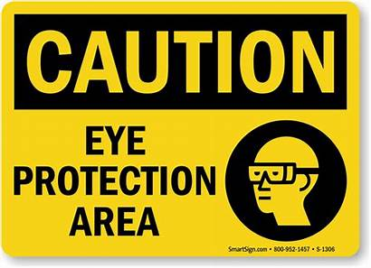 Protection Eye Sign Wear Safety Area Caution