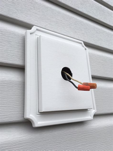 install exterior light without junction box lighting exterior lights on new siding no electrical