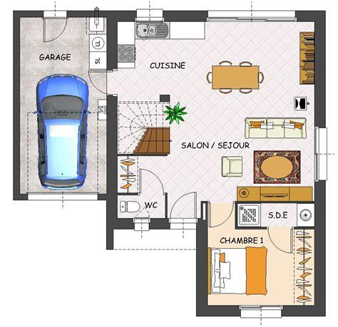 plan maison 1 chambre plan maison 1 chambre rdc