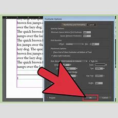 How To Add Footnotes In Indesign 13 Steps (with Pictures