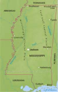 Mississippi River Physical Map
