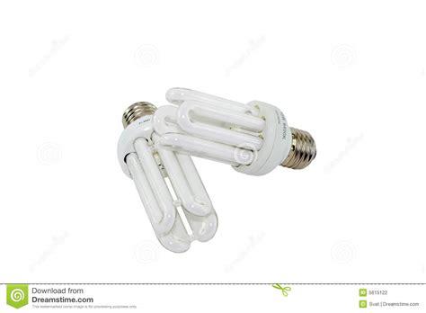 two electric energy saving light bulbs stock photography