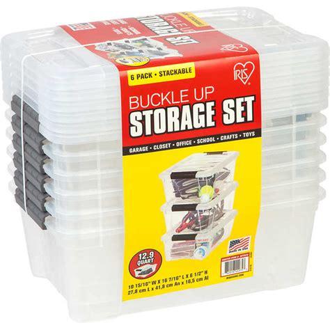 Iris Buckle Up Storage Set, 12.9 Quart, 6 ct | My online