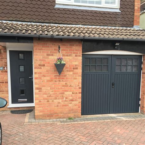 matching bedford side hinged and front door in anthracite grey elite gd