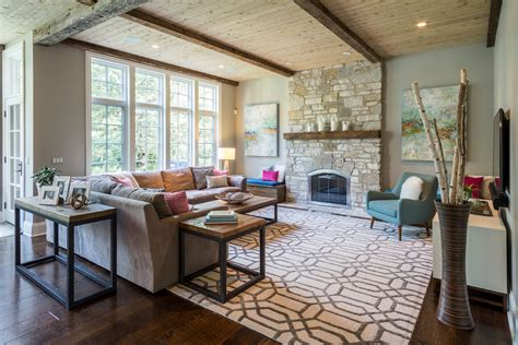 Modern Rustic Living Room Pictures by Chicago Interior Design Rustic Modern Rao Design