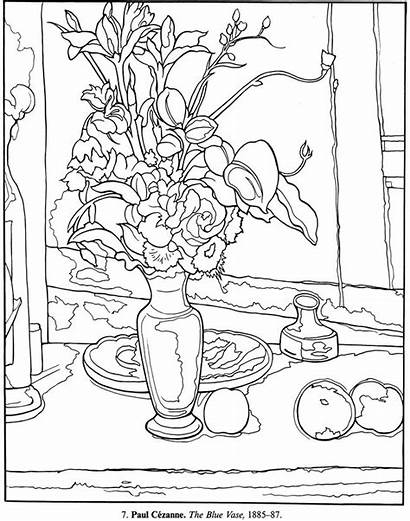 Coloring Pages Dover Paintings Publications Printable Masterpieces