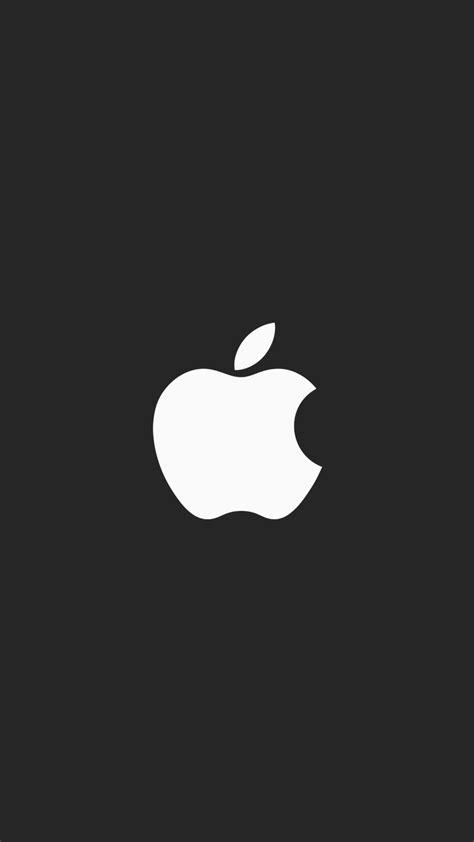 Apple minimal logo black iPhone Wallpaper - iPhone Wallpapers