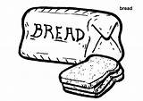 Bread Coloring Wheat Colouring Loaf Printable Template Toast Grains Breads Meatloaf Clipart Cliparts Clip Colorings Templates Trending Days Getcolorings sketch template