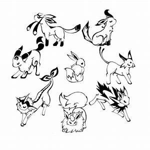 pokemon coloring pages eevee evolutions all - Google ...
