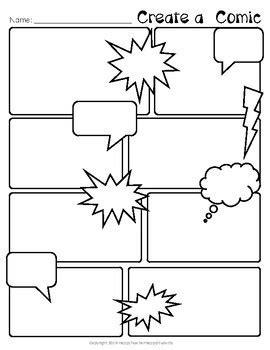 comic strip template comic book paper