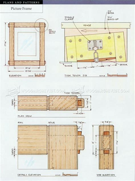 a frame blueprints picture frame plans woodarchivist