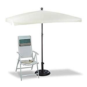 relaxdays sonnenschirm rechteckig 200 x 150 cm rippen polyester neigefunktion gartenschirm