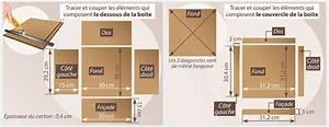 Fabriquer Une Boite En Carton Avec Couvercle : comment fabriquer une bo te de rangement en carton ~ Melissatoandfro.com Idées de Décoration