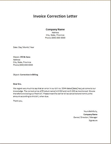 invoice  statement letters word excel templates