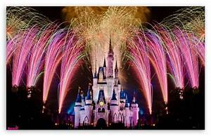 Fireworks Over Cinderella Castle 4K HD Desktop Wallpaper ...