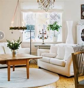 1001 designs magiques pour creer un salon cocooning With tapis champ de fleurs avec canape livre a domicile