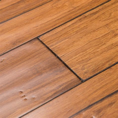 distressed wood flooring shop cali bamboo fossilized 5 in distressed mocha bamboo