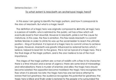 Macbeth Tragic Essay Thesis by Is Macbeth A Tragic Essay The Tragic Of