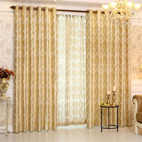 gold curtains living room 2017 european gold gold jacquard royal deluxe blue curtain