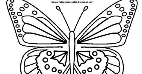Mewarnai Gambar Sketsa Hewan Kupu-kupu 2
