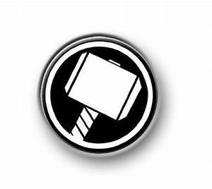 "THOR / 1"" / 25mm pin button / badge / Marvel / Hulk / Iron ..."