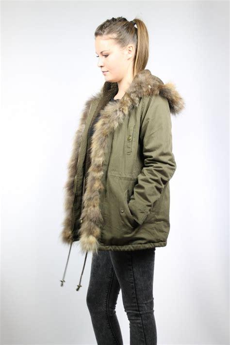 parka femme capuche fourrure kaki manteau parka femme avec capuche fourrure