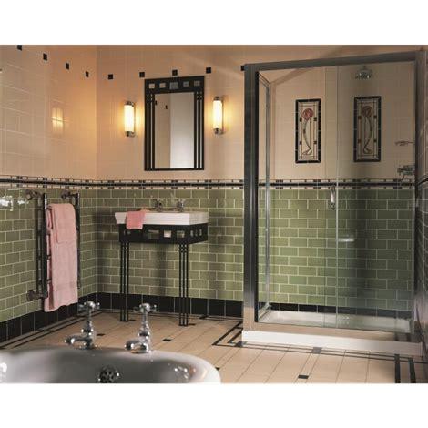 Bathroom Wall Tiles Glasgow by This Deco Style Bathroom Uses Striking Green Metro