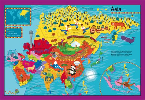 childrens asia picture map  cosmographics